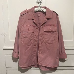 GAP Pink Core Utility Jacket